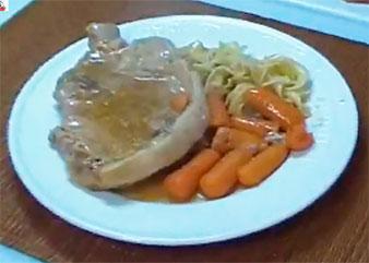 Golden Mushroom Pork Chops