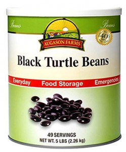 Canned Black Beans in a #10 (5-lb.) can